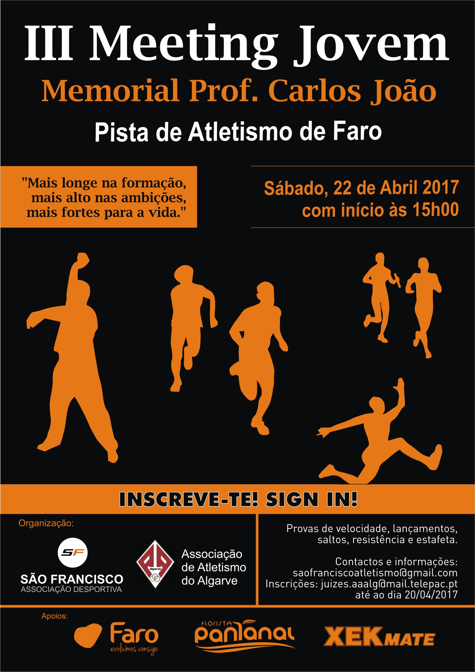 cartaz atletismo 2017